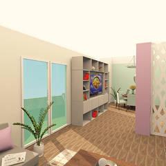 CENTRO DE ENTRETENIMIENTO : Salas multimedia de estilo  por ARDIN INTERIORISMO