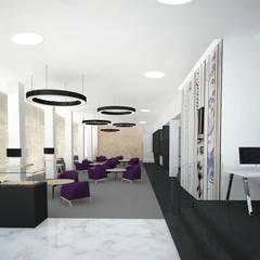 Hall wejściowy- widok w stronę czytelni prasy: styl , w kategorii Muzea zaprojektowany przez meinDESIGN