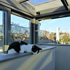 Apartment between Milan's roofs: Terrazza in stile  di Arch. Pierangela Crosti