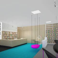 Mediateka: styl , w kategorii Centra wystawowe zaprojektowany przez meinDESIGN