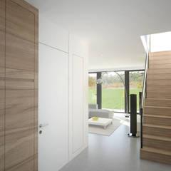 Hall d'entrée: Couloir et hall d'entrée de style  par bedesign