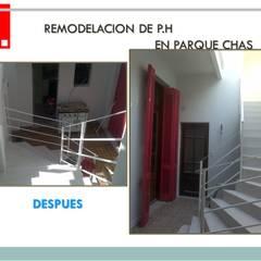 Remodelacion de P.H : Paredes de estilo  por Remodelaciones SF