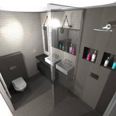 Salle d'eau industrielle : Salle de bains de style  par STUDIO 88