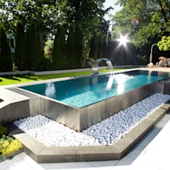 Berndorf Bäderbau Stainless Steel Private Pool (Bavaria, Germany):  Pool by London Swimming Pool Company