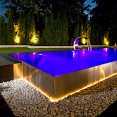 Berndorf Bäderbau Stainless Steel Private Pool (Germany Bavaria) :  Pool by London Swimming Pool Company