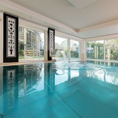 Berndorf Bäderbau stainless steel private pool (Austria, Lower Austria):  Pool by London Swimming Pool Company
