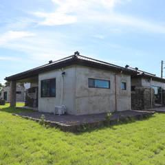 까사봉봉: 아키제주 건축사사무소의  정원,한옥