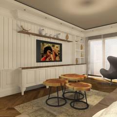 Gümüşcü Mimarlık – Sinan Başyazıcıoğlu Konut: rustik tarz tarz Oturma Odası