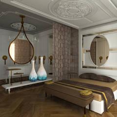 Gümüşcü Mimarlık – Sinan Başyazıcıoğlu Konut:  tarz Yatak Odası, Rustik Ahşap Ahşap rengi