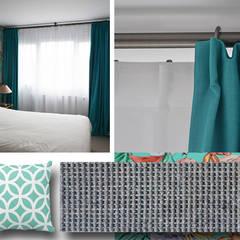 Chambre principale - Appartement Boulogne: Chambre de style  par A comme Archi