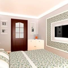 SYPIALNIA W STYLU PROWANSALSKIM: styl , w kategorii Sypialnia zaprojektowany przez Tatiana Filus Projektant Wnętrz