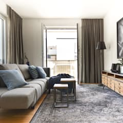 غرفة المعيشة تنفيذ Luna Homestaging