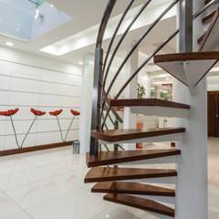 Majestic Contemporary | BUNGALOW :  Corridor & hallway by Design Spirits, Minimalist