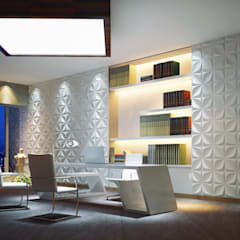 3D Wall Panels:  Offices & stores by Twinx Interiors