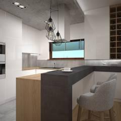 mieszkanie Wola, Warszawa: styl , w kategorii Kuchnia zaprojektowany przez Kameleon - Kreatywne Studio Projektowania Wnętrz