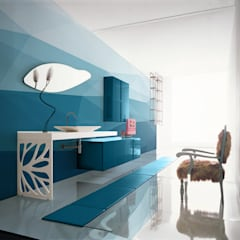Big Blue:  Bathroom by Pixers