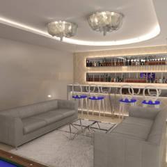 Dom Konstancin Klasyczny pokój multimedialny od AFD Interiors Klasyczny