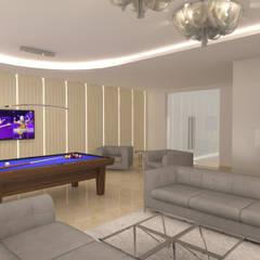 Dom Konstancin: styl , w kategorii Pokój multimedialny zaprojektowany przez AFD Interiors