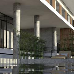 Piscinas de estilo  por TÉRREO arquitetos, Industrial