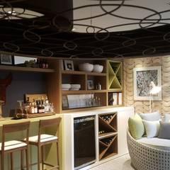 Projeto Varanda Gourmet para a Mostra Decora Lider Rio 2016: Terraços  por Lucio Nocito Arquitetura e Design de Interiores