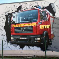 Wandkunst auf Firmengebäude:  Veranstaltungsorte von  Wandgestaltung Graffiti Airbrush von Appolloart