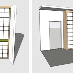 Modello 3D di una cabina armadio non calpestabile: Camera da letto in stile in stile Asiatico di Arpel