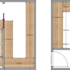 Rappresentazione di una cabina armadio calpestabile: Camera da letto in stile in stile Asiatico di Arpel