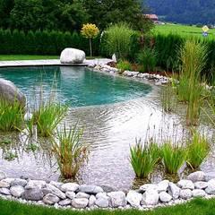 Piscinas de estilo rural por Bio Göl Havuz (Biyolojik Gölet ve Havuz Yapısalları)