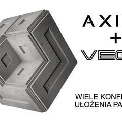 Panele 3D ZICARO - model AXIAL i VEGA: styl , w kategorii Centra handlowe zaprojektowany przez ZICARO - producent paneli 3D o strukturze betonu architektonicznego