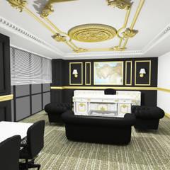 Merve Demirel Interiors – Classic Office Design:  tarz Ofisler ve Mağazalar