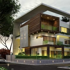 Reidence at Indore :  Houses by agnihotri associates,Modern