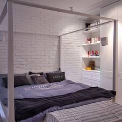 Soft Loft: styl , w kategorii Sypialnia zaprojektowany przez Perfect Space
