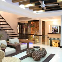 Tropical Retreat | SEMI-DETACHED:  Living room by Design Spirits