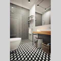 Apartamento Antas, Porto: Casas de banho  por ASVS Arquitectos Associados,Moderno
