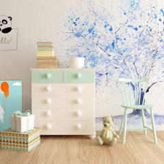 scandinavian Nursery/kid's room by Pixers