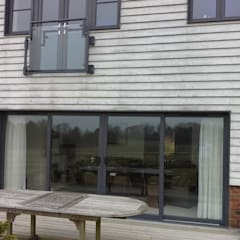 External view before the awning:  Terrace by Premier Blinds, Shutters & Awnings