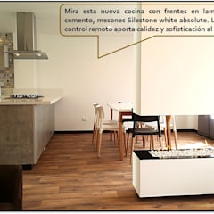 Vista Lateral Comedor / Chimenea: Comedores de estilo escandinavo por Design For You SAS