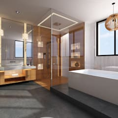 Bungalow at Undri:  Bathroom by Space Craft Associates