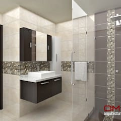 Diseño interior en apartamento, espacio baño principal: Baños de estilo  por om-a arquitectura y diseño