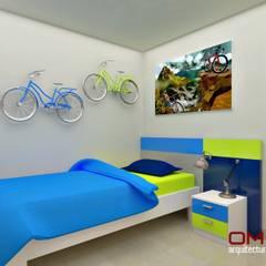 Diseño interior en apartamento : Cuartos infantiles de estilo  por om-a arquitectura y diseño