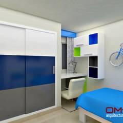Diseño interior en apartamento : Cuartos infantiles de estilo  por om-a arquitectura y diseño,