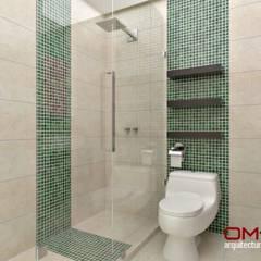 Diseño interior en apartamento : Baños de estilo  por om-a arquitectura y diseño