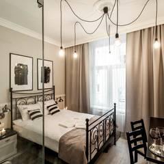 BOUTIQUE HOTEL - IMAGINE APARTMENTS - ul. Starowiślna 4 Kraków: styl , w kategorii Hotele zaprojektowany przez MANGO STUDIO
