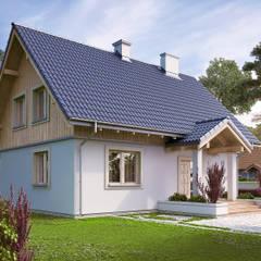 MALINOWY: styl , w kategorii Domy zaprojektowany przez Biuro Projektów MTM Styl - domywstylu.pl