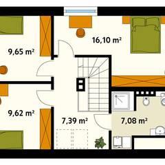 MALINOWY: styl , w kategorii Ściany zaprojektowany przez Biuro Projektów MTM Styl - domywstylu.pl,