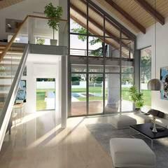 ONYKS: styl , w kategorii Salon zaprojektowany przez Biuro Projektów MTM Styl - domywstylu.pl