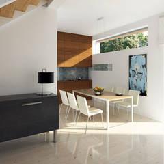 ONYKS: styl , w kategorii Jadalnia zaprojektowany przez Biuro Projektów MTM Styl - domywstylu.pl,