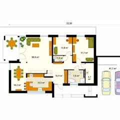 ONYKS: styl , w kategorii Ściany zaprojektowany przez Biuro Projektów MTM Styl - domywstylu.pl