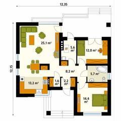 UMBRA: styl , w kategorii Ściany zaprojektowany przez Biuro Projektów MTM Styl - domywstylu.pl