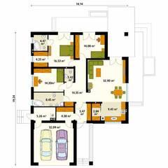 ARIEL 4: styl , w kategorii Ściany zaprojektowany przez Biuro Projektów MTM Styl - domywstylu.pl